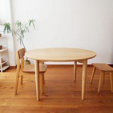 ラウンドテーブル 丸テーブル 楢