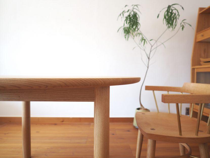 ラウンドテーブル 丸テーブル ダイニングテーブル 高さ調整 高さ変更