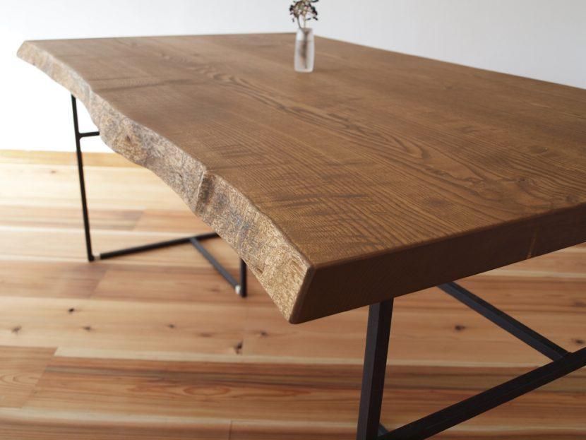 ダイニングテーブル テーブル 鉄 アイアン 一枚板