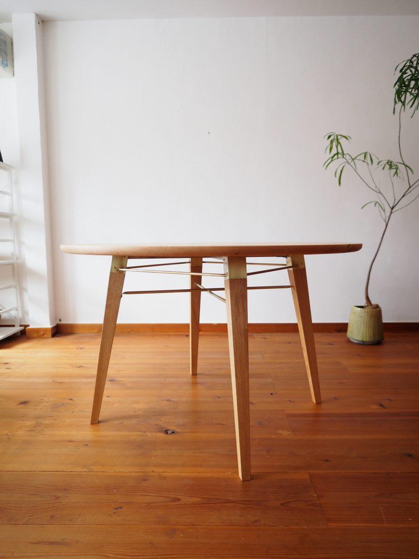 ラウンドテーブル ダイニングテーブル 丸テーブル 楢 オーク