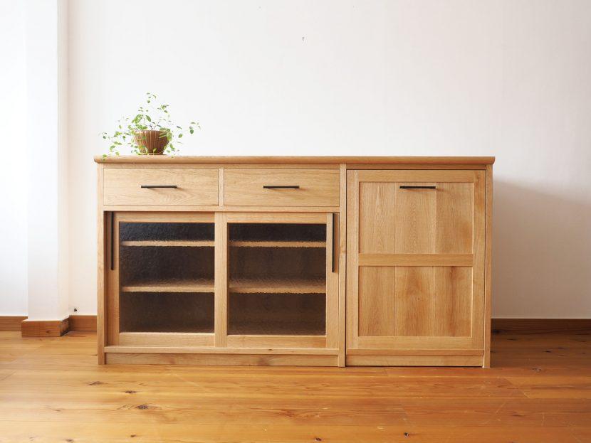 食器戸棚 木 キッチン収納棚 キッチンカウンター オーダーメイド