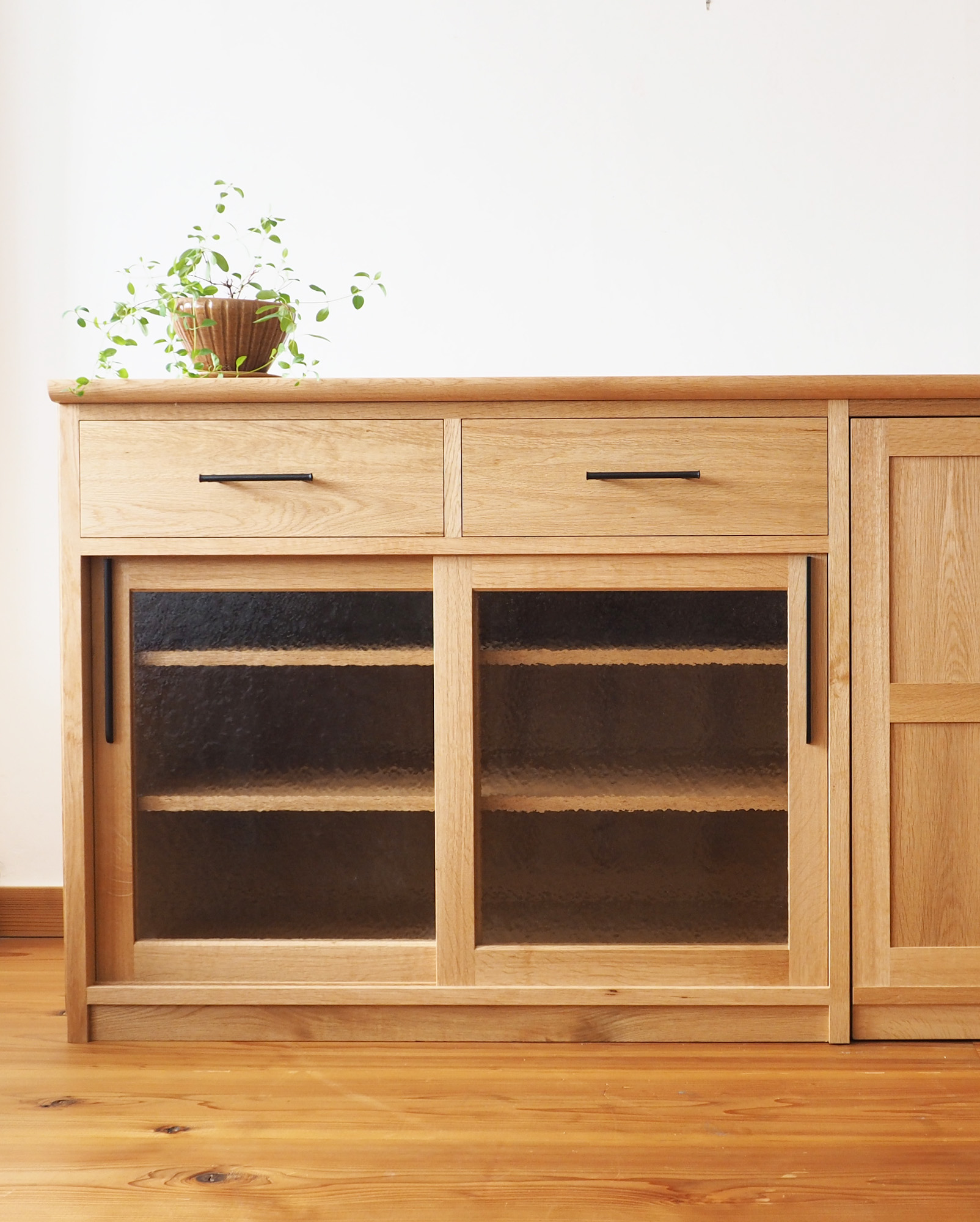 食器戸棚 木 キッチン収納棚 キッチカウンター オーダーメイド
